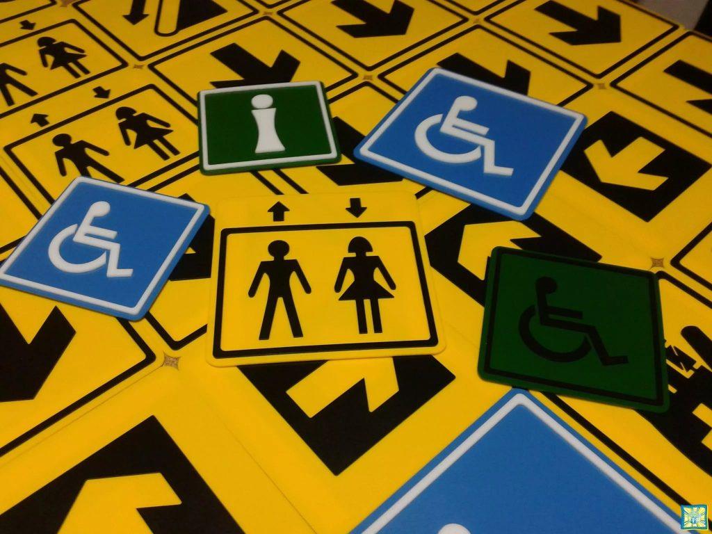 Тактильные указатели, рельефные информационные пиктограммы для слабовидящих и незрячих