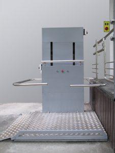 Вертикальная подъемная платформа с тросовым приводом