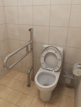 Поручень откидной напольный для инвалидов