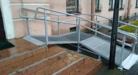 Стационарные металлические пандусы для инвалидов